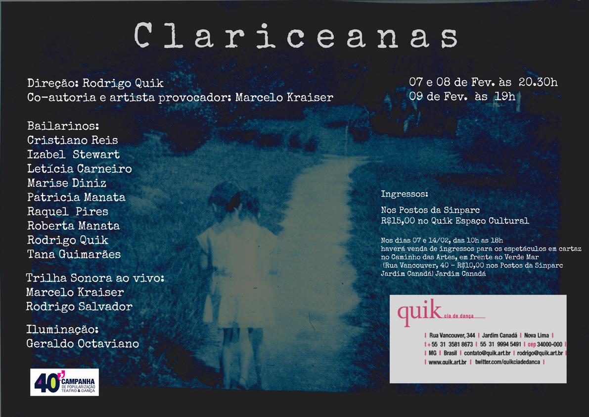 Flyer Clariceanas Marcelo Kraiser web
